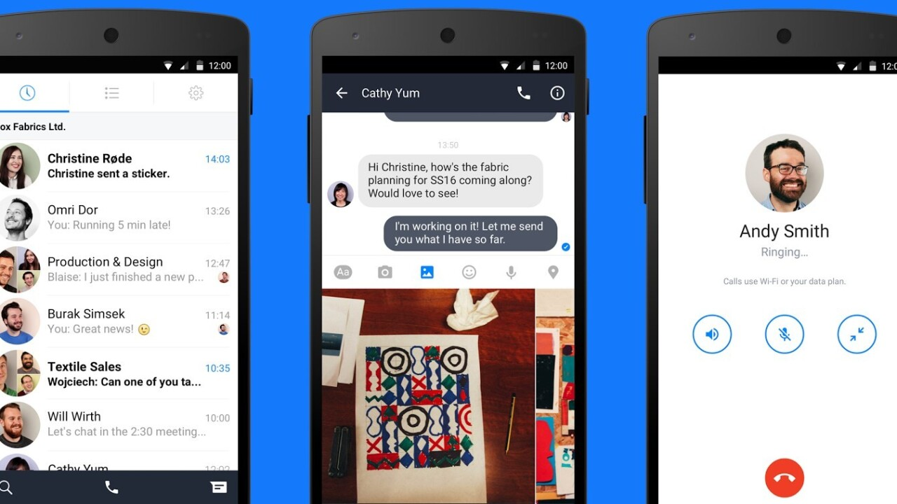 Facebook at Work now has a companion messaging app on Android