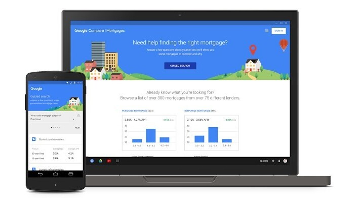 Google now lets home buyers in California compare mortgage rates