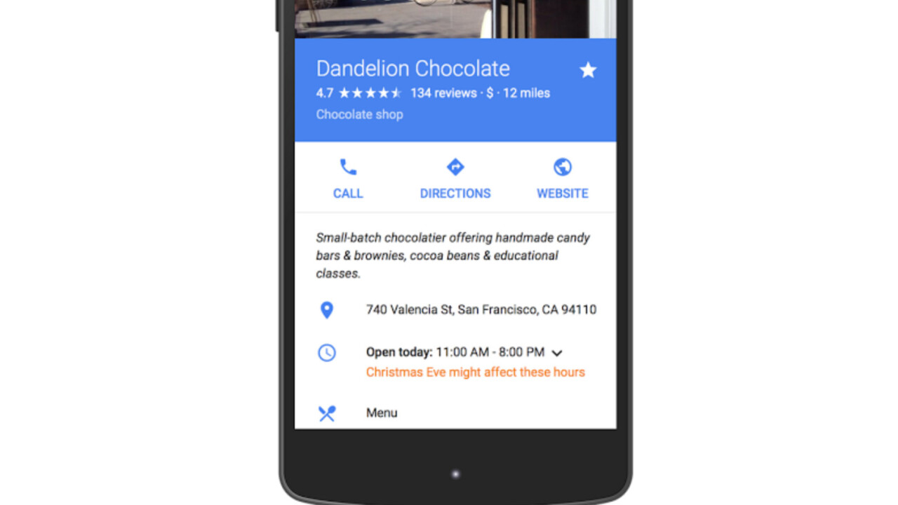 Google is finally adding holiday business hours to Maps and Search