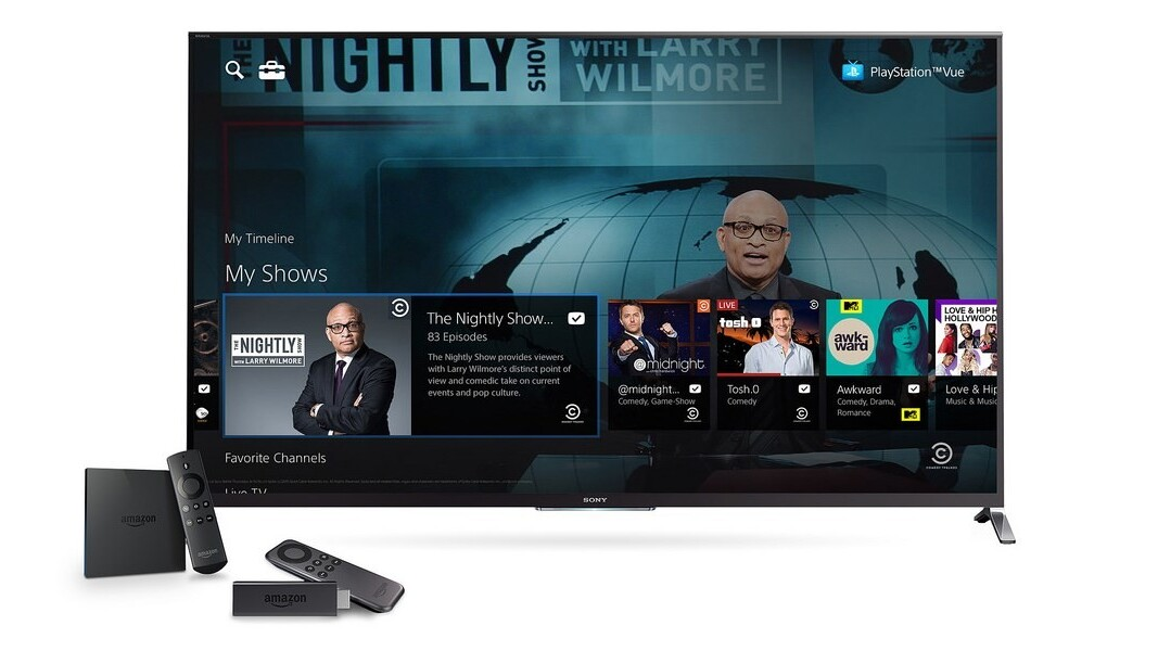 PlayStation Vue comes to Amazon's streaming devices before PS TV