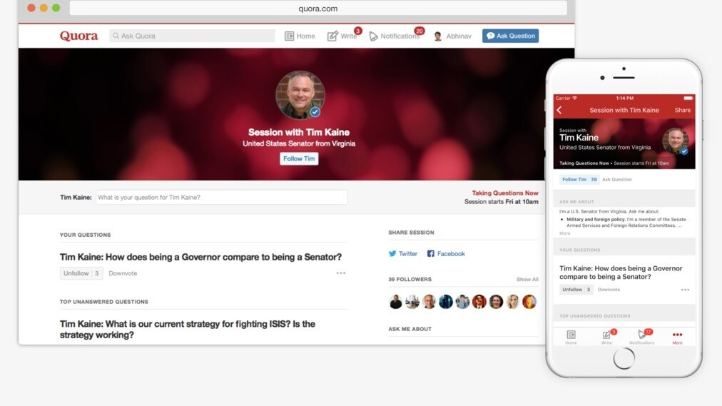 Quora launches Writing Sessions, a civilized rival to Reddit's AMAs