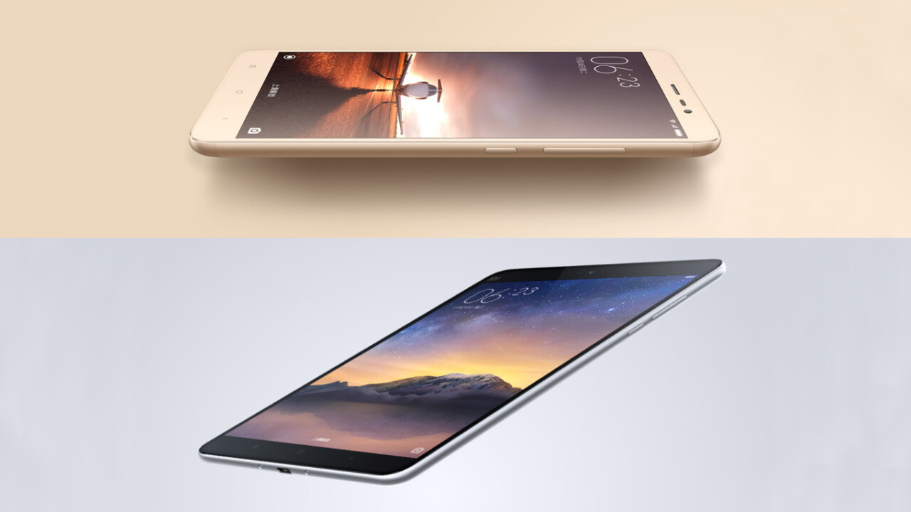 Xiaomi's first all-metal Redmi Note 3 phone and Mi Pad 2 start at just $140