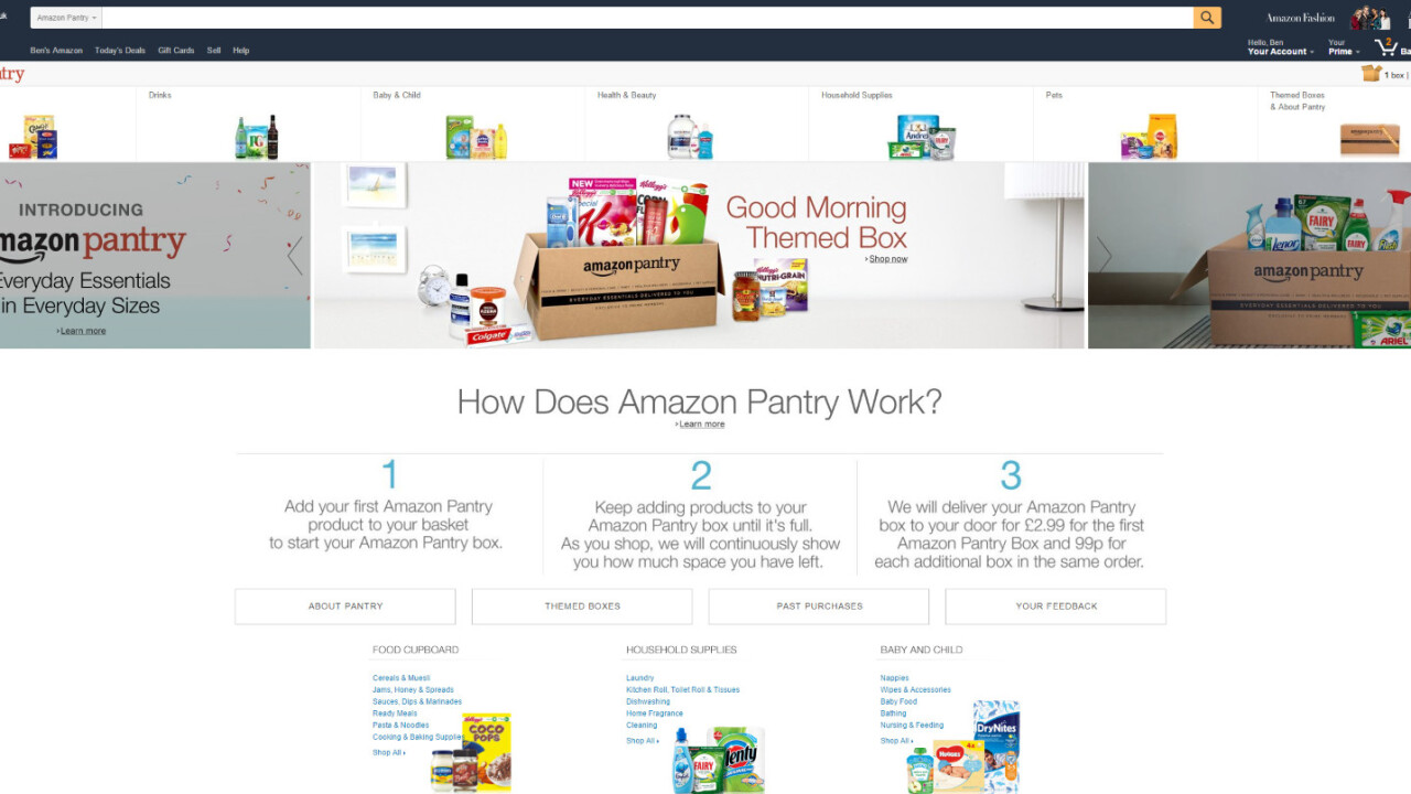 Amazon launches Pantry to deliver groceries in the UK, but only to Prime members