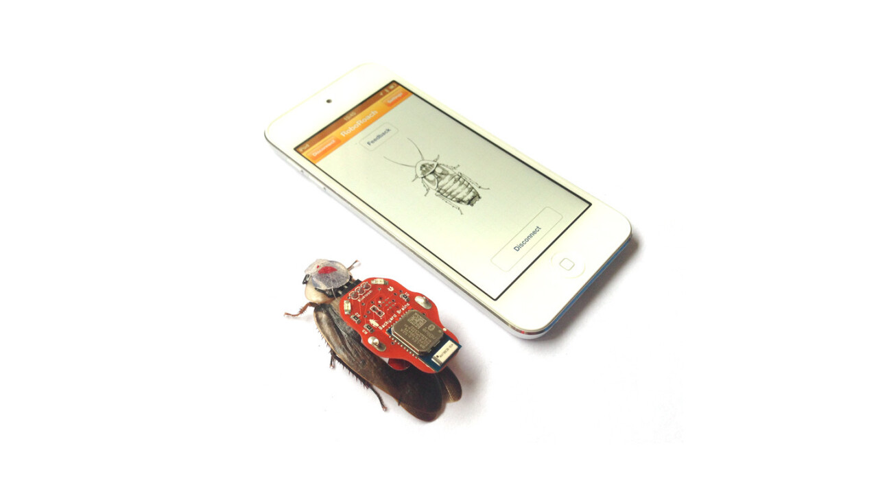 Roboroach allows you to control live roaches with a smartphone