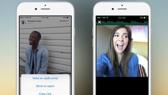 Vine's latest update finally makes audio remixing easier