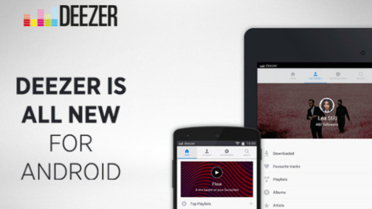 Deezer for Android rebuilt to help you discover new tracks and organize your music
