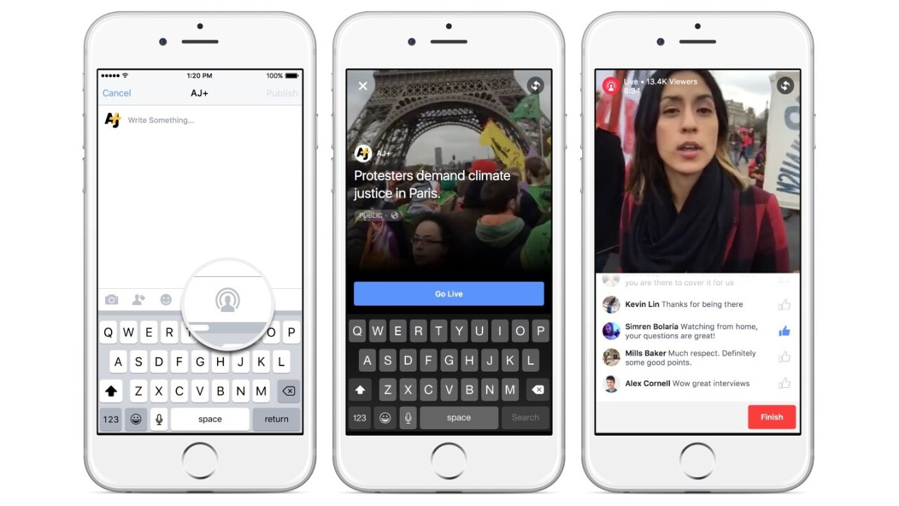 Facebook rolls out livestreaming capabilities to verified Pages