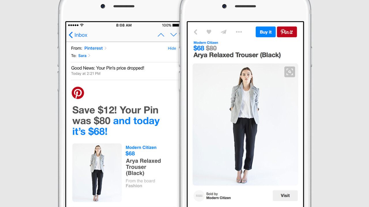Pinterest releases price drops for buyable pins