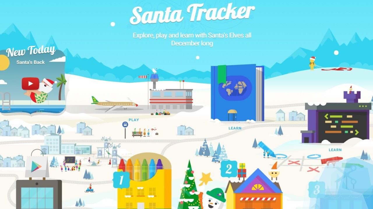 Google brings coloring activities, coding and learning to its revamped Santa Tracker