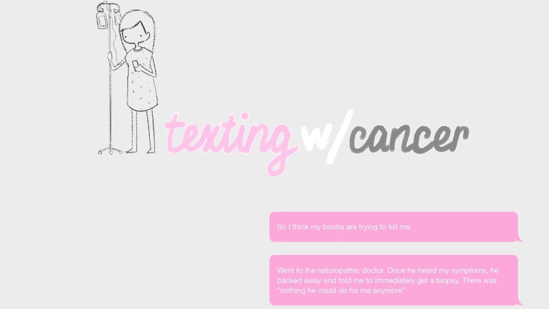 This woman built a colored text website to record her battle with breast cancer