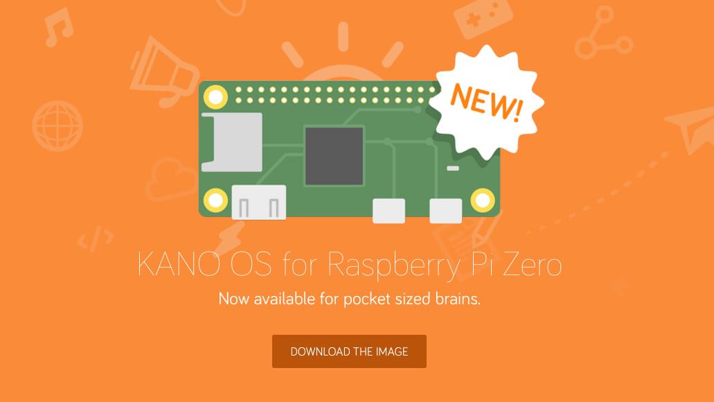 Kano OS empowers kids to create the future on $5 Pi Zero