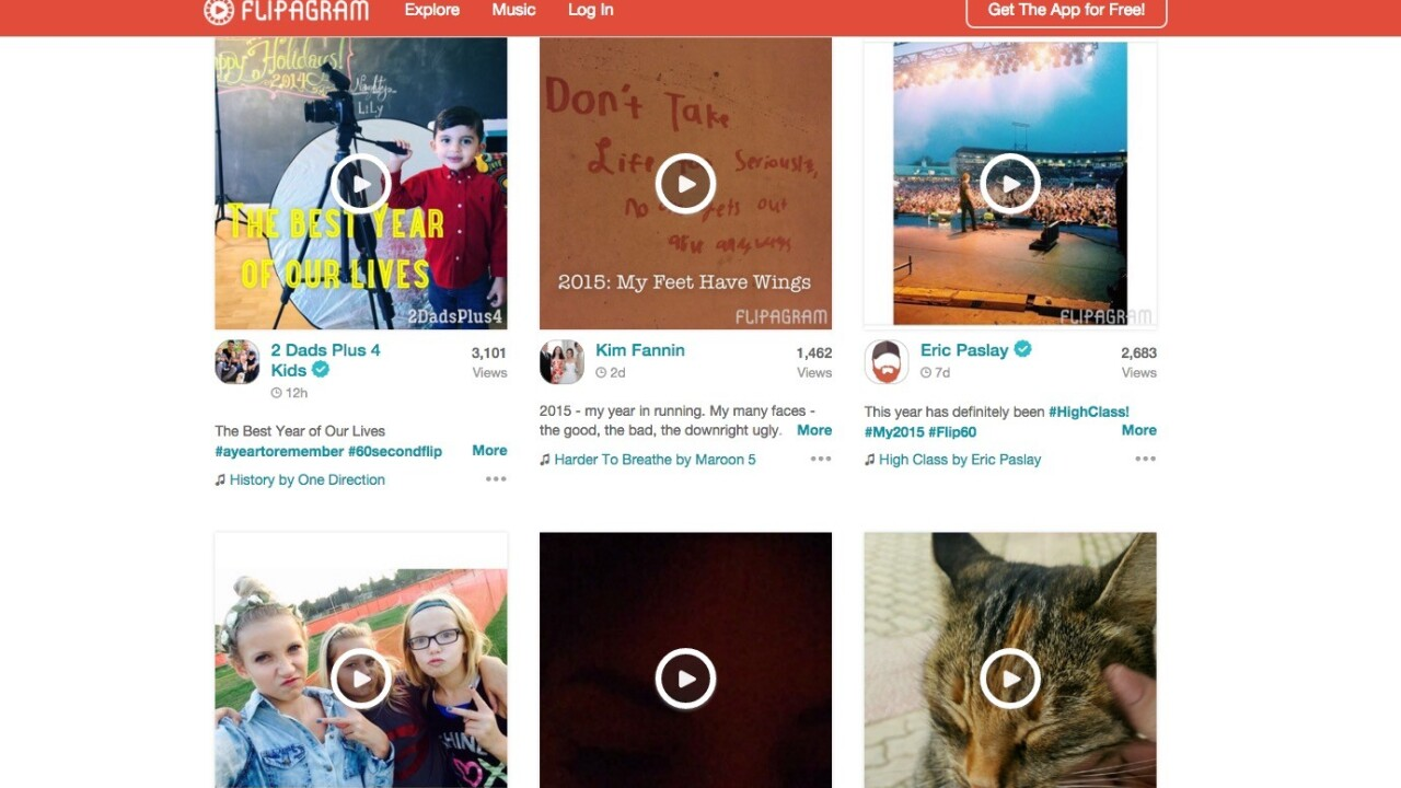 Sum up your year with Flipagram's new 60 second videos