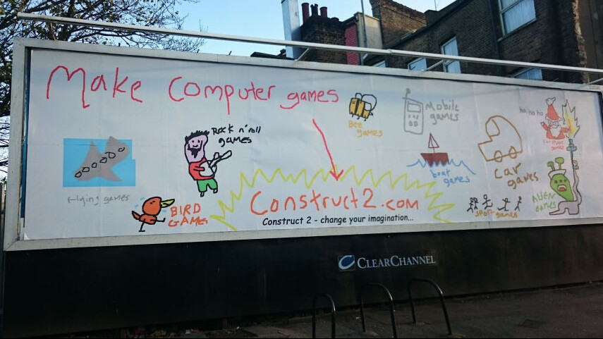 15-minute Microsoft Paint billboard just convinced me to become a games dev