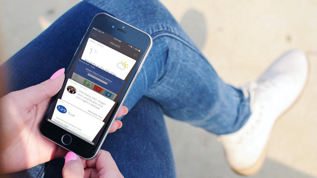 Relevant for iOS adds more context to its card-based interface