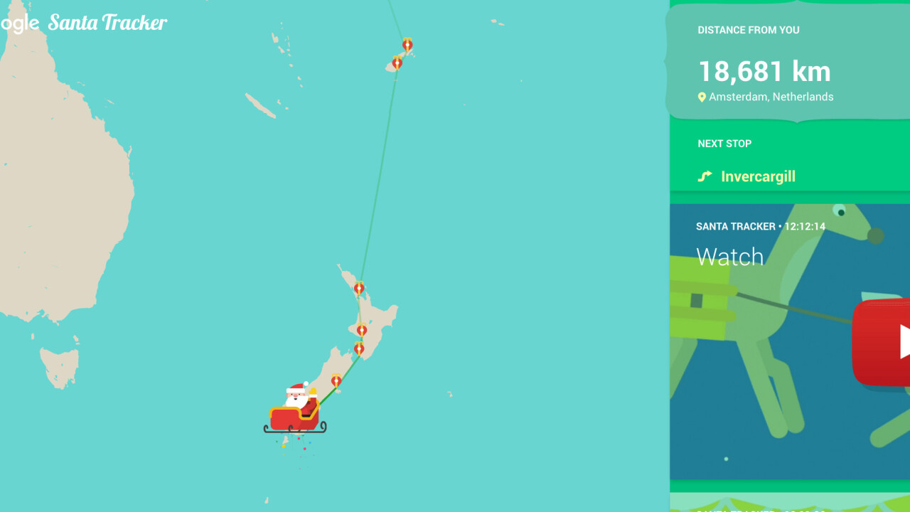 Where's Santa? Track him Christmas present deliveries around the world in real time