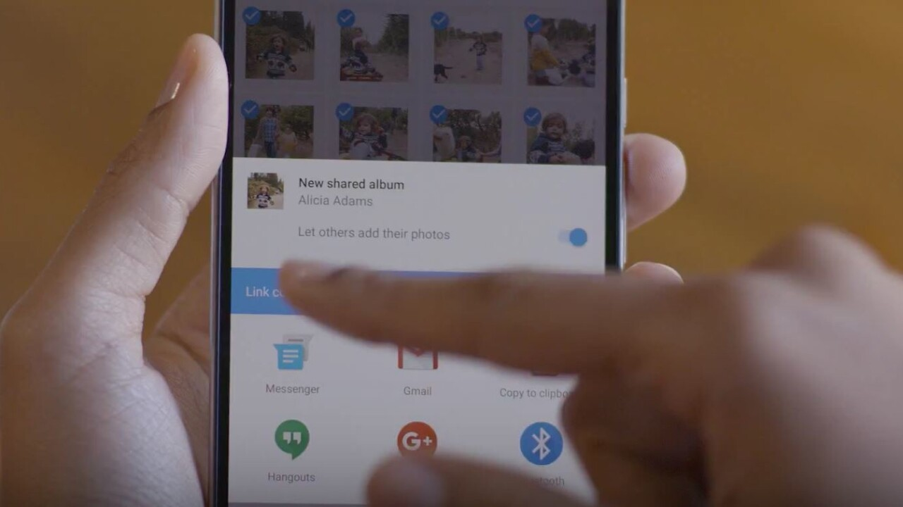 Google Photos rolls out shared albums