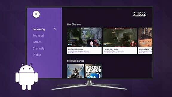 Twitch adds support for Android TV and improved private messaging