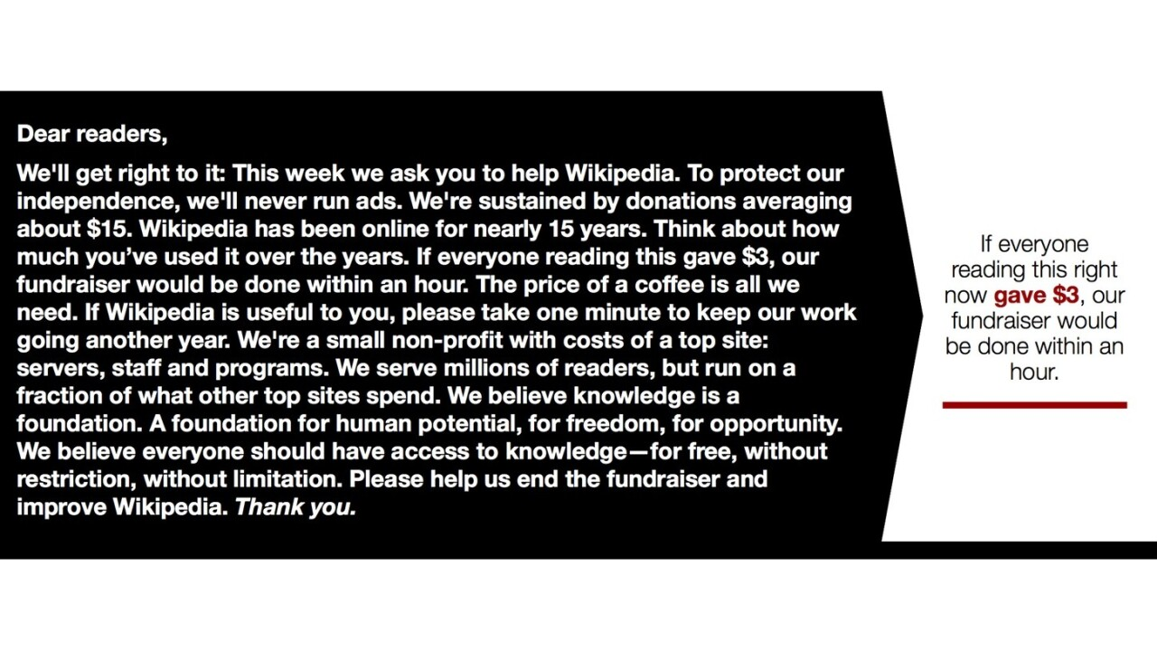 I'm donating to Wikipedia this year, and so should you