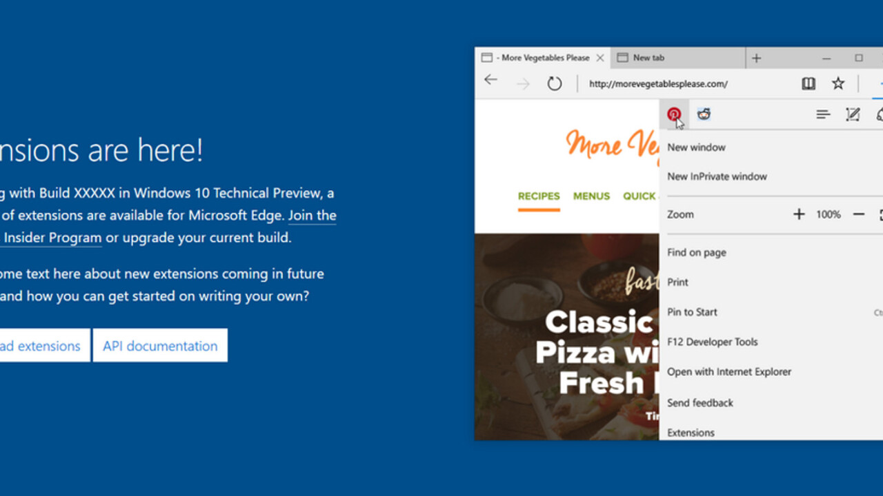 Microsoft accidentally outed its first Edge browser extensions from Reddit and Pinterest