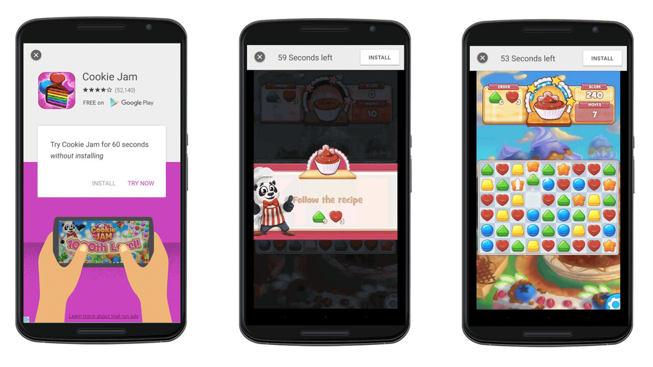 Google's new mobile ad format lets you try an app for 60 seconds without downloading it