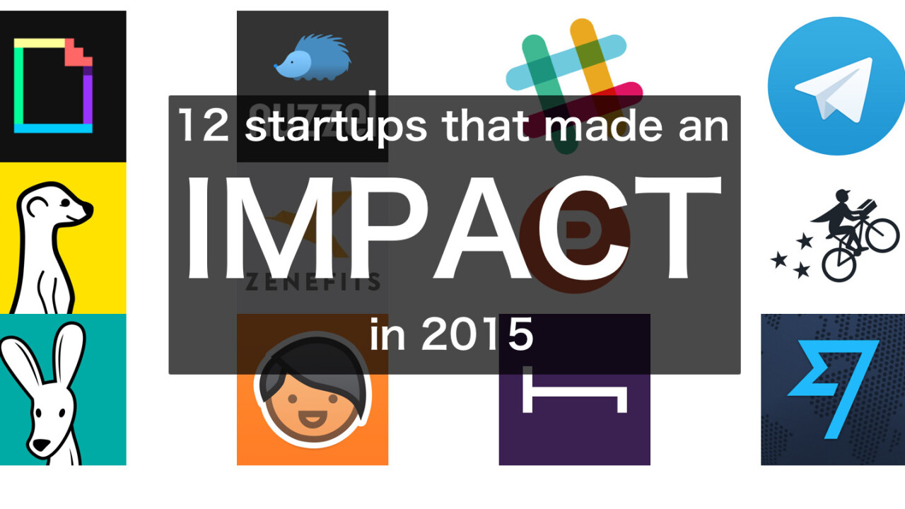 12 startups that made an impact in 2015