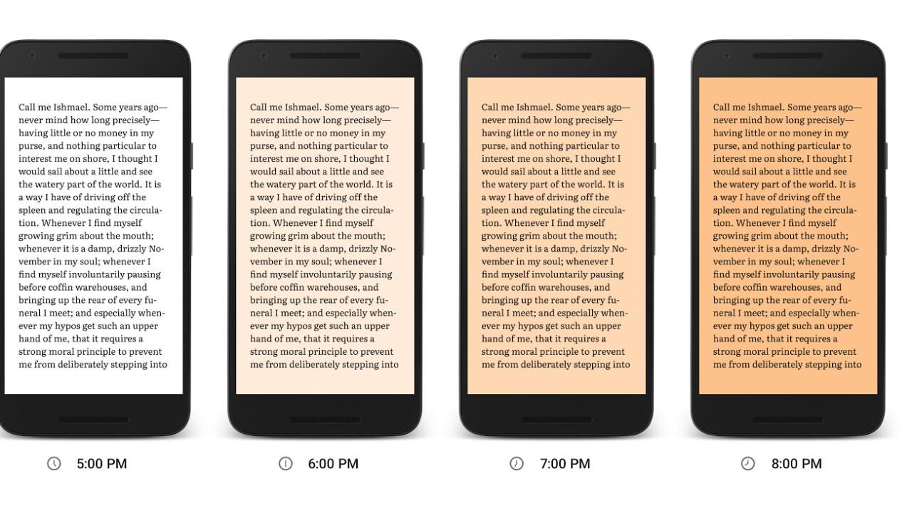 Google Play Books' new 'Night Light' adds a blue wavelength filter to help you fall asleep