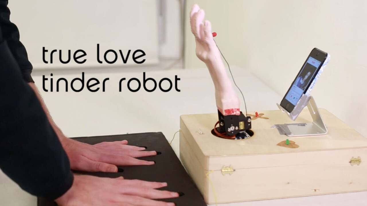 This robot reads body response before deciding to swipe left or right on Tinder
