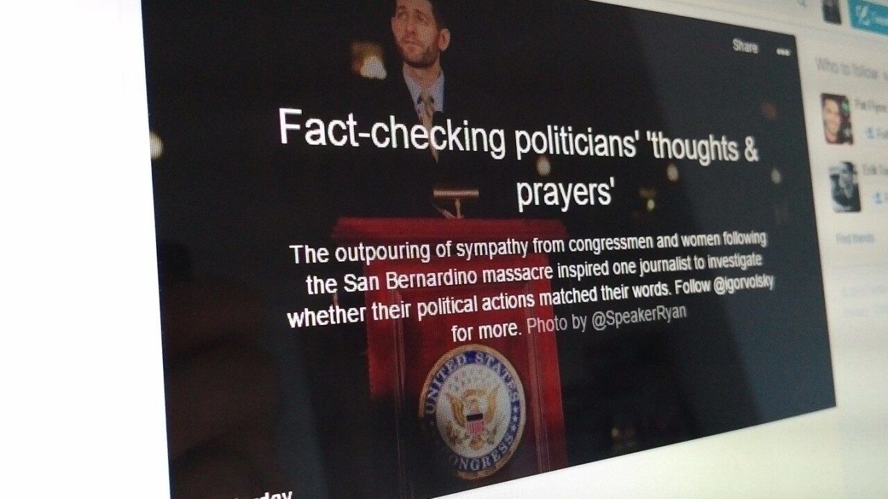 Twitter Moments is being used to call out politicians tweeting about mass shootings