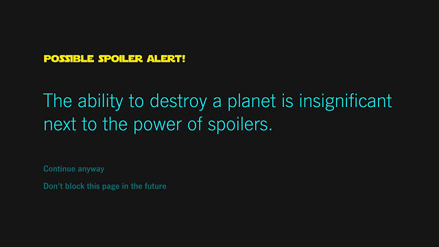 This Chrome extension will save you from seeing Star Wars spoilers