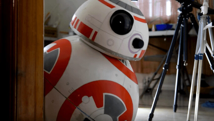 You can build your own life-size Star Wars BB-8 for less than $100