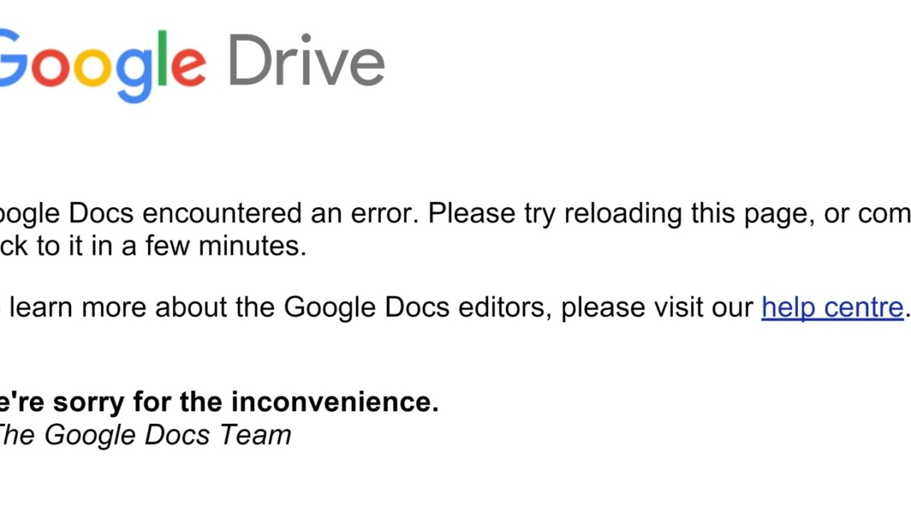 Google Drive and Gmail are down for some users around the world [Update: They're back!]