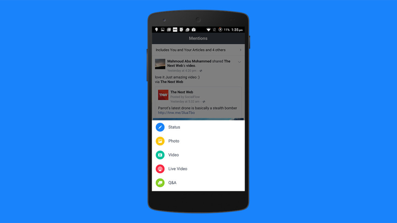 Facebook's Mentions app for verified users arrives on Android