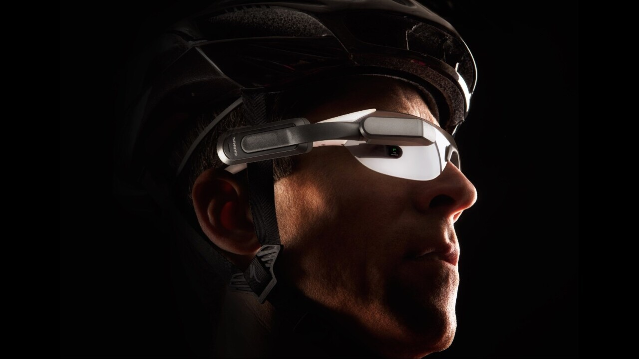 Garmin's $399 headset for cyclists brings rear view and notifications into your line of sight