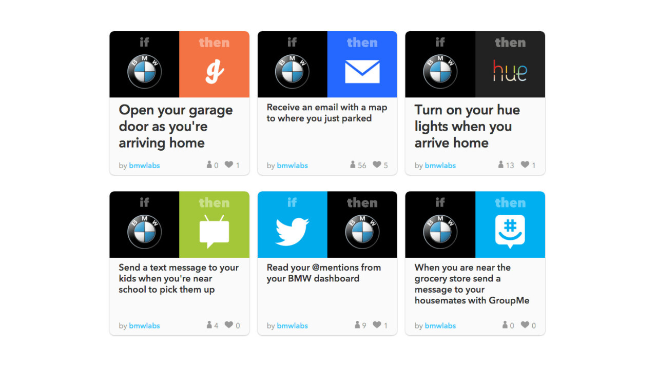 IFTTT can now help you remember where you parked your BMW
