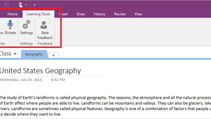 Microsoft new OneNote add-on makes reading easier for dyslexic students