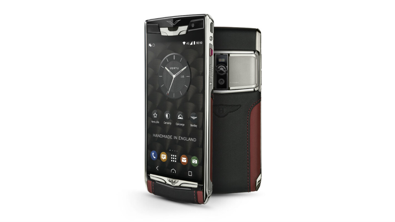 Here's a $9,000 leather smartphone for Bentley owners who've gone insane