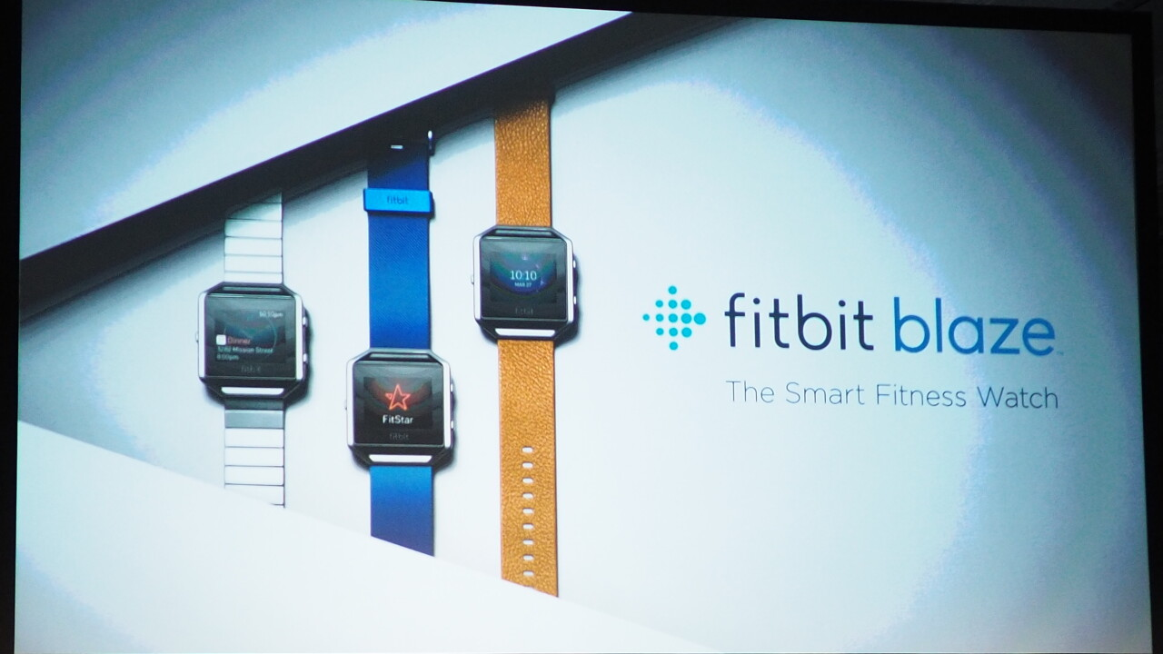 Fitbit's new $199 Blaze 'smart fitness watch' has interchangeable bodies and better tracking