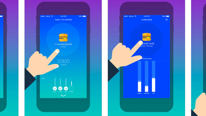 Movesum tells you how many steps it'll take to burn off what you eat