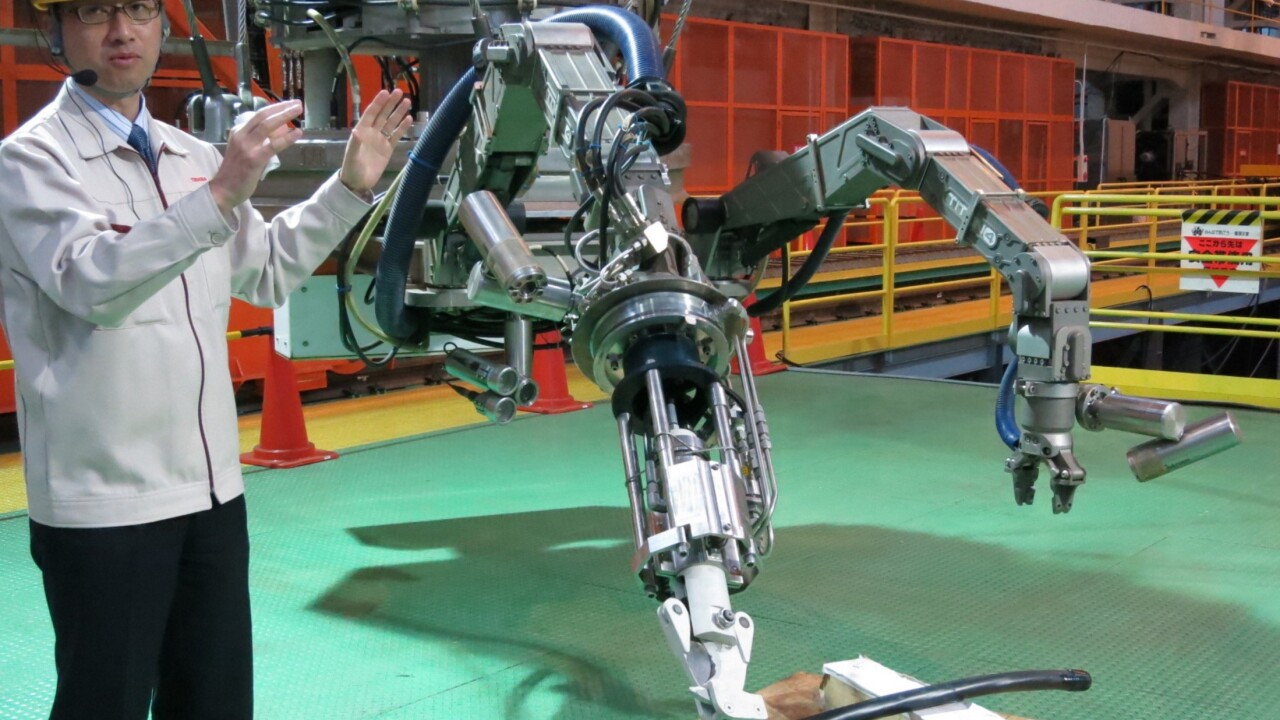 Toshiba built a giant robot to help clean up Fukushima's dangerous nuclear reactors