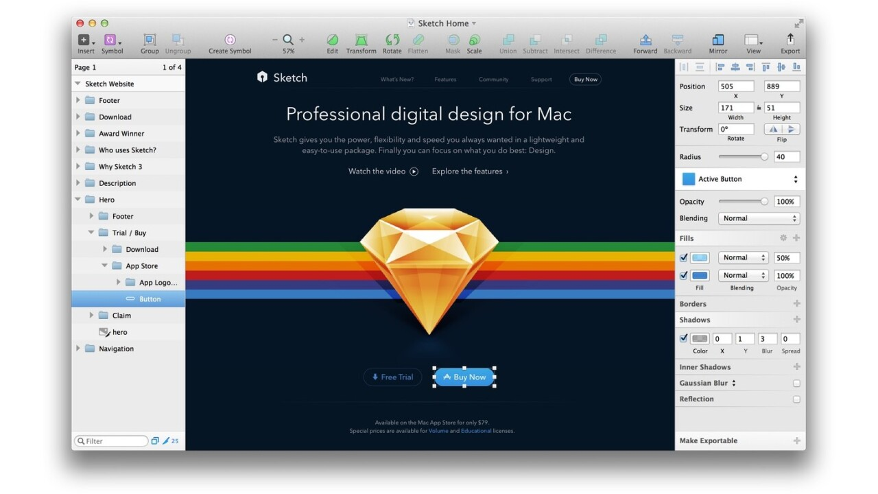 Sketch 3.5 update fixes several performance issues that have been driving developers and designers nuts