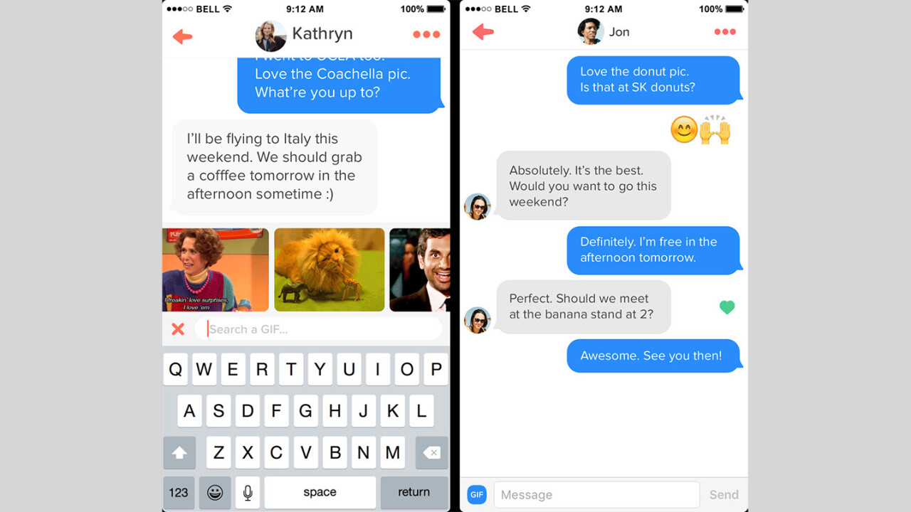You can now woo Tinder matches with GIFs on iOS