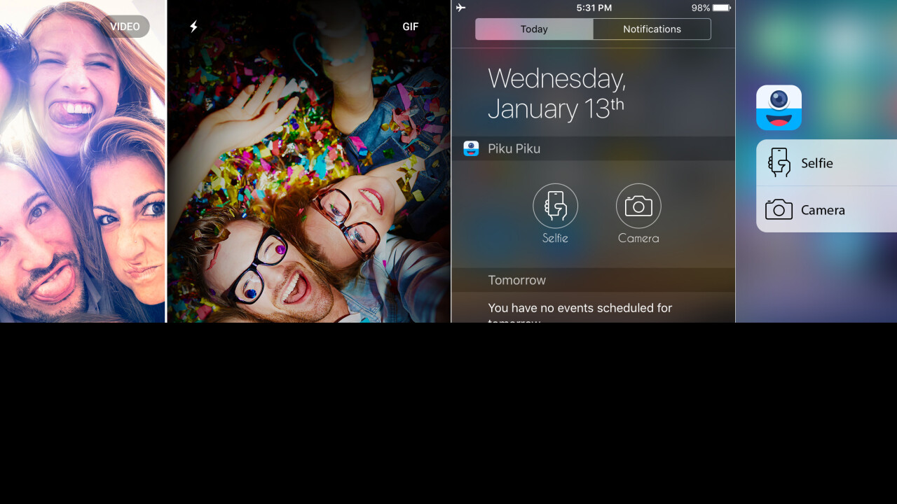Piku Piku lets you record GIFs with live filters on your iPhone
