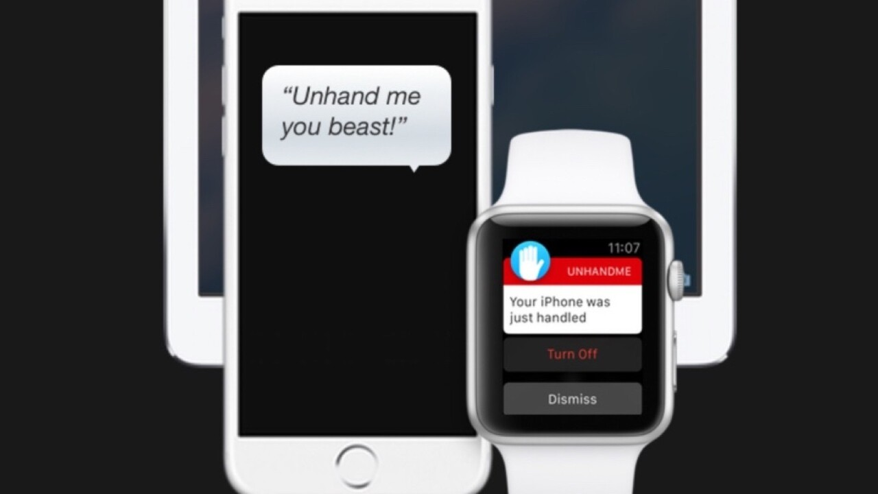 Unhand Me kicks up a fuss when someone steals your iPhone