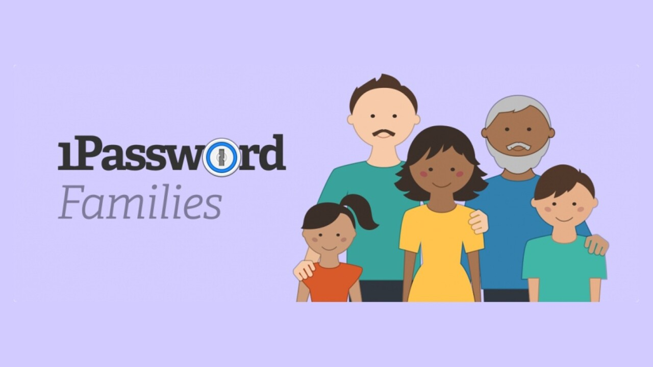 1Password has a new family plan to help you manage passwords for up to 5 people