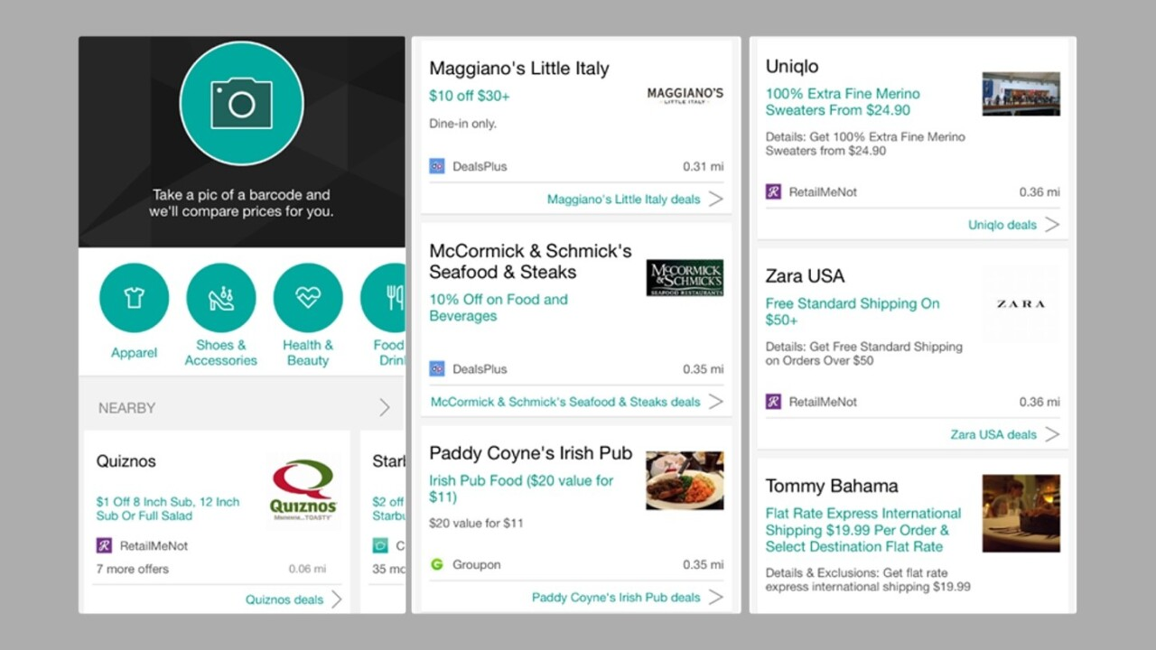 Bing for iOS and Android will now find you nearby deals and better gas prices