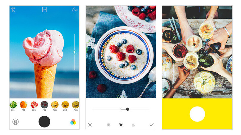 Line's new camera app has a handy feature to help you take better food photos