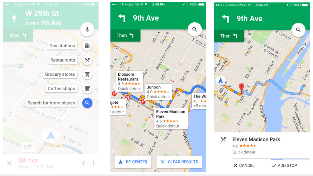 Google Maps on iOS finally gets detour feature