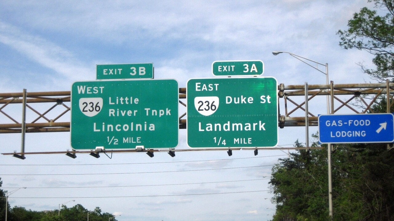 The government has decided its boring old font for highway signs is good enough