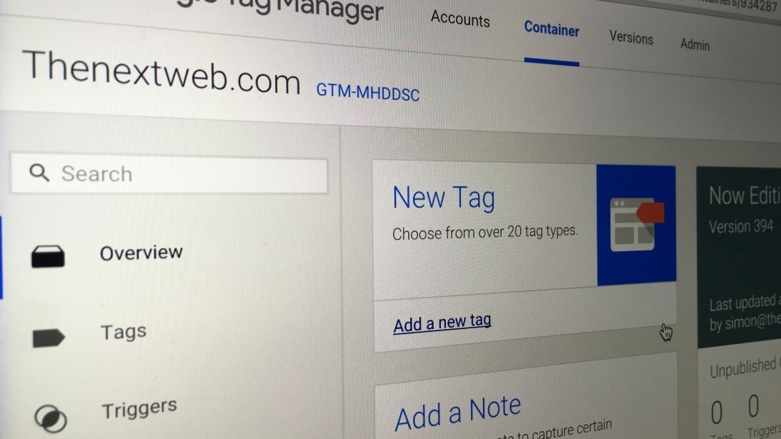 Marketing the TNW Way #8: Google Tag Manager, we're in love!
