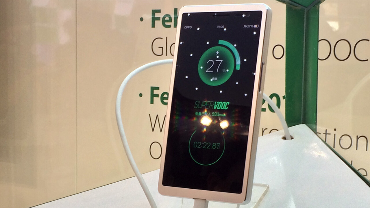 Oppo's new battery tech can fully charge your phone in 15 minutes